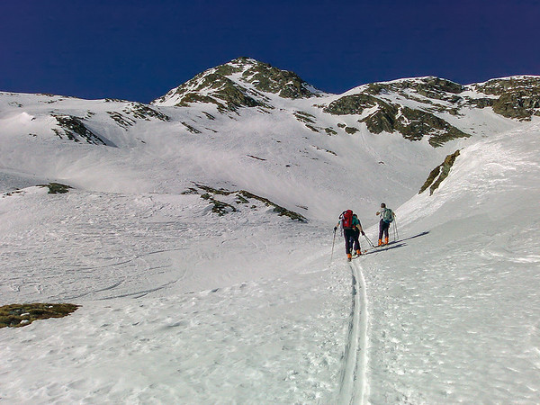 Ascent to Piz Lunghin, Switzerland