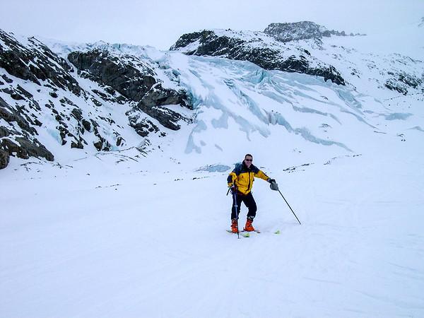 2008, self portrait on Piz Palù glacier, Switzerland