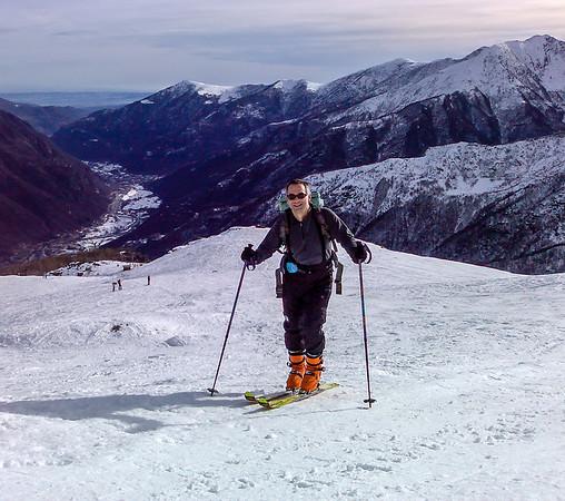 2008, Ascent to Punta Cialma, Italy