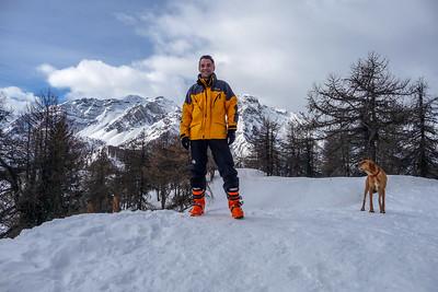 2009, self portrait on Mount Cotolivier, Italy