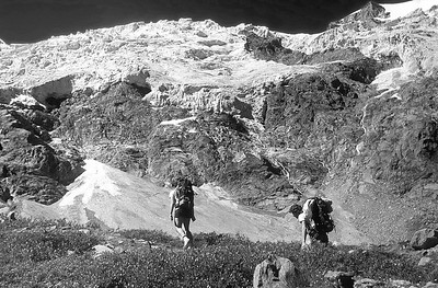 1985: approaching the Tribolazione glacier, Gran Paradiso, Alps