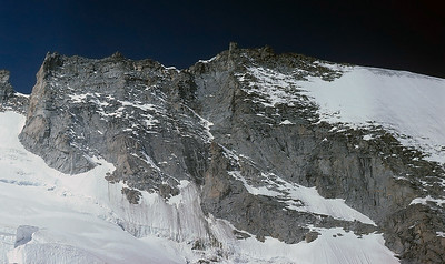 East face of Gran Paradiso, 4.061m, Alps