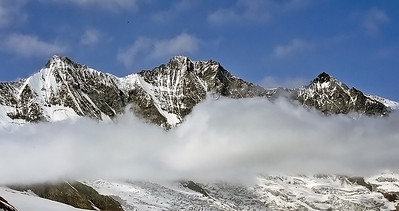 Täschhorn (4.491m), Dom (4.545m) and Nadelhorn (4.327m), Switzerland