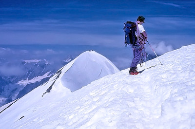 Central Breithorn summit (4.160m), Italy, Switzerland