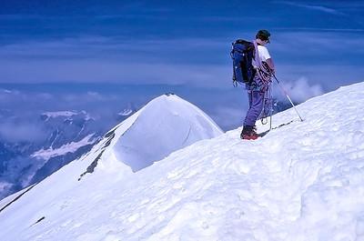 Central Breithorn summit (4.160m), Italy, Switzerland