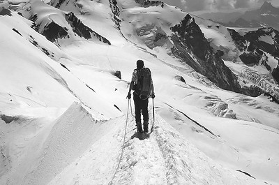 Breithorn ridge (4.100m), Italy, Switzerland