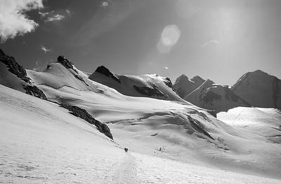 The Verra glacier, Monte Rosa, Italy