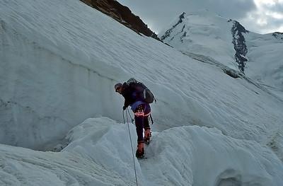 1994: me climbing Roccia Nera (4.075m), Monte Rosa, Italy