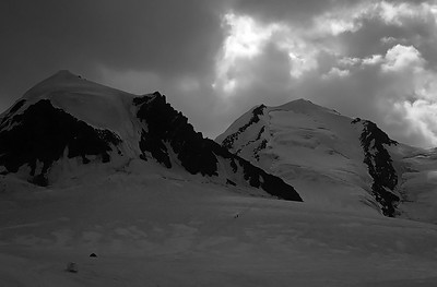 Storm over Pollux (4.091m) and Castor (4.228m), Monte Rosa, Italy