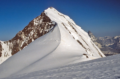 Eastern Lyskamm (4.527m) from the Lys Col, Monte Rosa