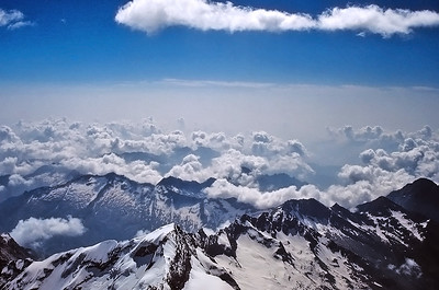 View from Punta Gniffetti, 4.554m, Monte Rosa