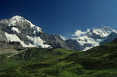 Mönch and Jungfrau from Kleine Scheidegg, Switzerland