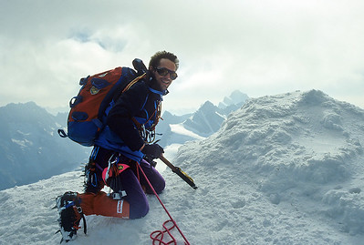 1994, me on the Mönch summit (4.105m), Switzerland