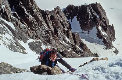 1994, me climbing Mont Blanc du Tacul (4.248m), France
