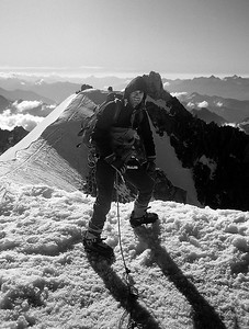 1994, me on the summit of Mont Blanc du Tacul (4.248m), France