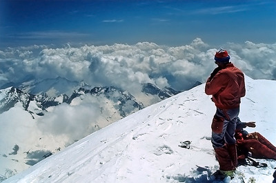 Piramide Vincent summit (4.215m), Monte Rosa, Italy