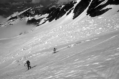 Climbing Punta Giordani (4.046m), Monte Rosa, Italy