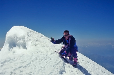 1994: summit of Schwarzhorn (4.322m), Alps, Italy