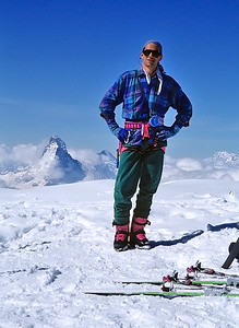 1996: me on the summit of Alphubel (4.206m), Switzerland
