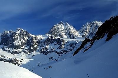 Piz Roseg (3.937m) and Piz Bernina (4.049m), Italy