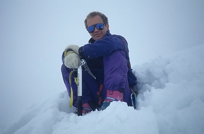My friend Bruno on the summit of  Eastern Breithorn (4.139m),  Italy