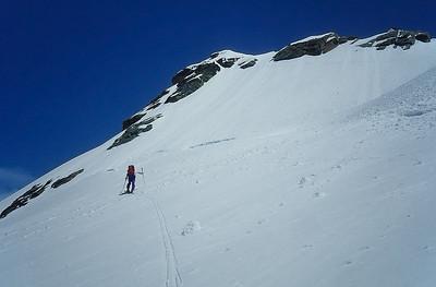 Climbing Eastern Breithorn (4.139m), Monte Rosa range, Italy