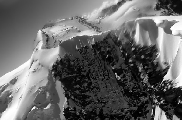 The ridge between Roccia Nera and Breithorn Zwillinge, Italy