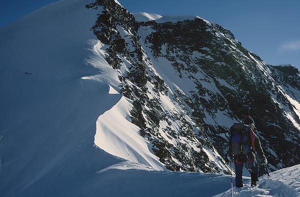 Climbing Western Lyskamm (4.481m), Italy