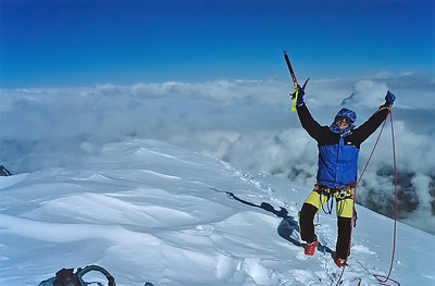 Me on the summit of Western Lyskamm (4.481m), Italy