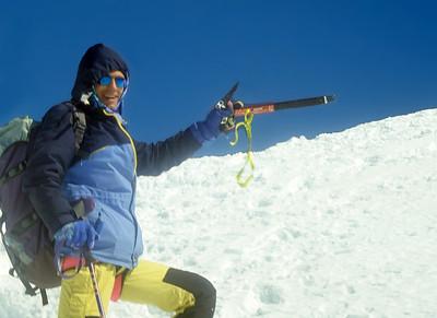 1997, self portrait before summiting Strahlhorn (4.190m), Valais, Switzerland