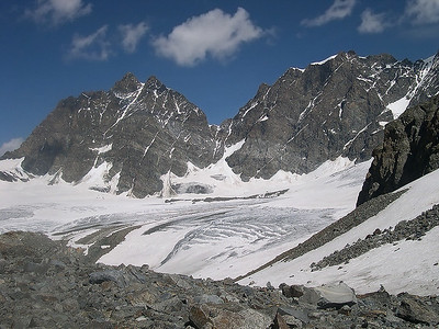Piz Roseg (3.937m) and Piz Bernina (4.049m), Italian side