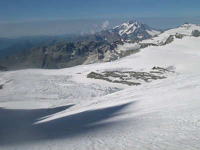 The Scerscen glacier, Piz Bernina, Italy