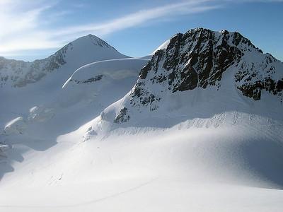 Piz Zupò (3.996m) and Crast'Agüzza (3.854m), Bernina range, Switzerland