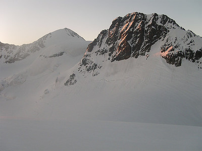 Piz Zupò (3.996m) and Crast'Agüzza (3.854m), Bernina range, Switzerland