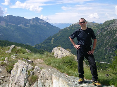 2008, self portrait in Valmalenco, Italy