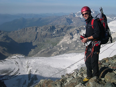 2008, self portrait while attempting the Italian side of Piz Bernina