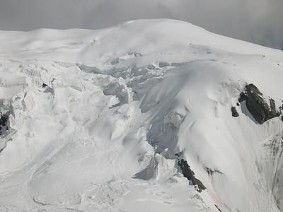 The normal route to Weissmies (4.023m), Valais, Switzerland