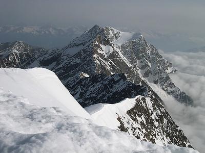 View from Weissmies summit (4.023m), Valais, Switzerland
