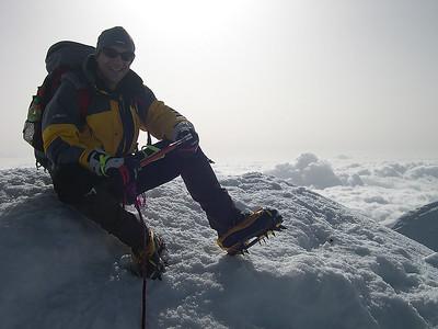 2008, self portrait on the summit of Weissmies  (4.023m), Switzerland