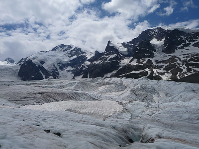Morteratsch glacier, Bernina range, Switzerland