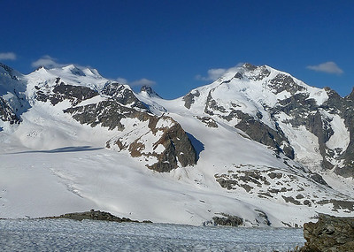 Fuorcla Bellavista (3.688m) and Piz Bernina (4.049m), Switzerland