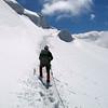 Approaching Piz Bernina (4.091m) from Fuorcla Bellavista, Switzerland