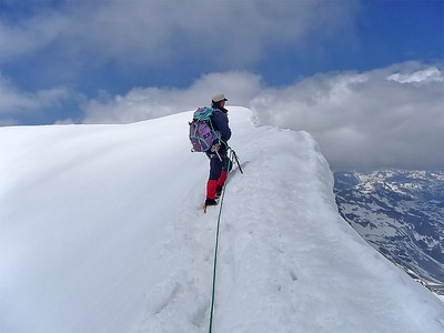 Piz Palù, central summit (3.901m), Switzerland