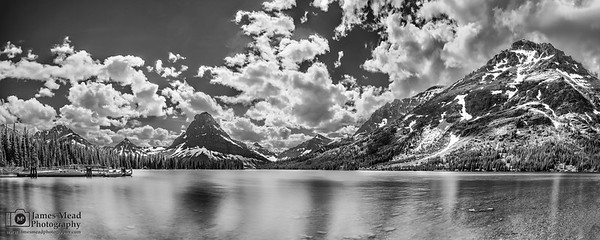 """Energized,""  Two Medicine Lake,  Sinopah Mountain and Rising Wolf Mountain, Glacier National Park"