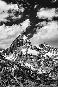 """Grand View,"" Clouds over Grand Teton and Mount Owen, Grand Teton National Park"