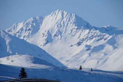 """Driving north to Summit Lake from Paxson, this mountain stood out, saying """"Take Me!  Take Me!""""   So I did."""