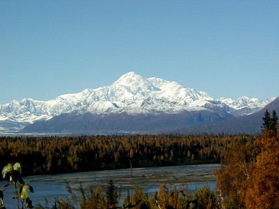 Denali - The Great One - as seen across the Chulitna River from the Parks Hwy. viewpoint.