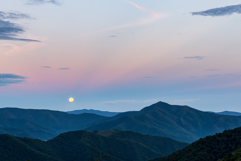 Moonset, Cold Mountain