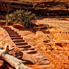 Some stairs carved into the rock on the way to Delicate Arch in Arches National Park new Moab.