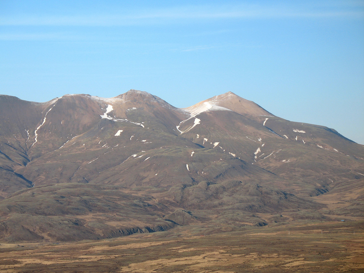 View from the south, from Grímmannsfell